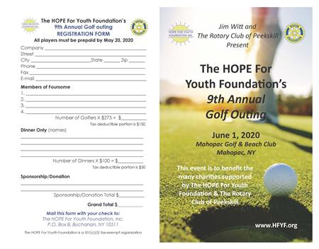 Hope for Youth Golf Outing