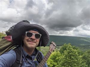 Walking the Appalachian Trail, fundraising for  Polio