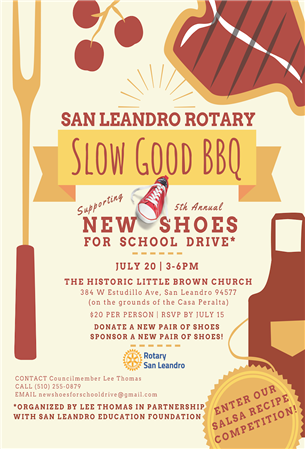 Rotary Slow Good BBQ   New Shoes for School