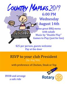 BBQ - RSVP by Aug 9th