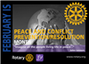Peace & Conflict Resolution - One Rotarian