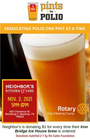 Pints for Polio Fundraiser