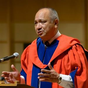 The Honourable Steven Point, Chancellor of UBC & former Lieutenant Governor of BC.