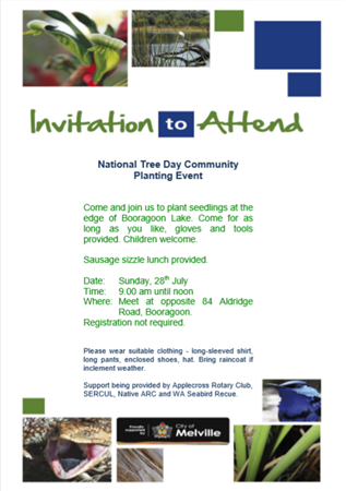 National Tree Day Community Planting Event
