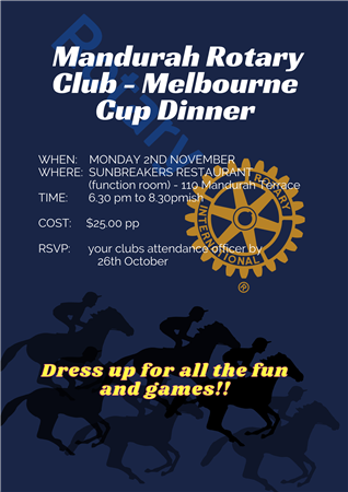 Melbourne Cup Dinner - Combined Club Meeting
