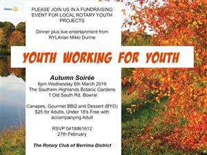 Raising funds for Rotary Youth Programmes