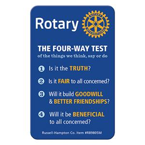 Old Mission Rotary 4-Way Test Speech Contest