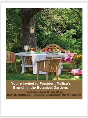 President's Welcome - Chicken&Champagne in Gardens