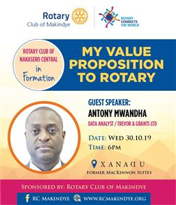 My proposition to Rotary